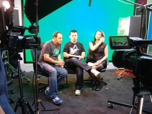 Crystal Method being interviewed by Madeline Meritt